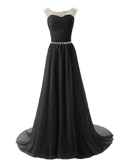 487549636b8 Dydsz Evening Party Dresses for Women Formal Long Prom Dress Plus Size A  Line Chiffon Beaded