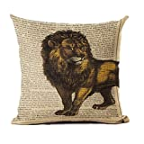 ASO-SLING Creative Fashion Animal Pictorial Soft Pillow Seat Cushion Cotton Linen Square 45X45 CM