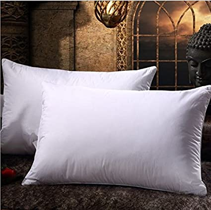 Buy Comfortable Bed Pillow Set of 2 Combo Super Soft Microfiber Cushion  Pillow Cure Cervical Shoulder Back Neck Pain Relief for Men Women Online at  Low ... ea3ae3a1a