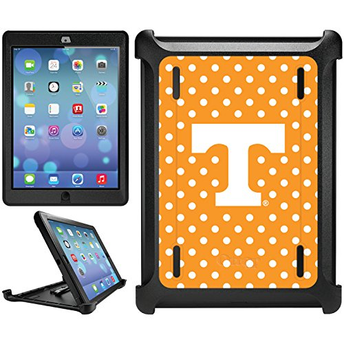 OtterBox iPad Air (5th Generation) Black Defender Series Case with University of Tennessee Mini Polka Dots Design by Coveroo (9083 Series)