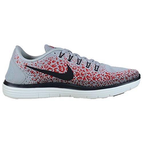 Nike Hommes Chaussure De Course Libre Distance Rn Loup Gris / Noir Universitaire Rouge-fantôme