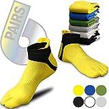 Cheap Toe Socks Colorful – Five Toe Socks – 5 Finger Socks for Men Women Teen – 6 pack