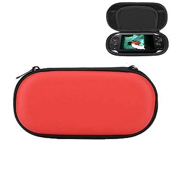 Eboxer Estuche Rígido Protector, Bolsa de Viaje Impermeable ya Prueba de Golpes Carry Pouch con Bolsillo Tipo Malla para Sony PS Vita(Rojo)