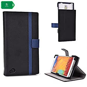 smartphone cover case with self supporting stand black and navy universal fit for Samsung Galaxy S5 Active