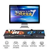 3D Pandora's Key 7 Retro Arcade Game Console - 2413 Games Pre-Loaded, Support 3D Games, Add More Games, 4 Players Online Game, 1920x1080 Full HD, 2 Player Game Controls
