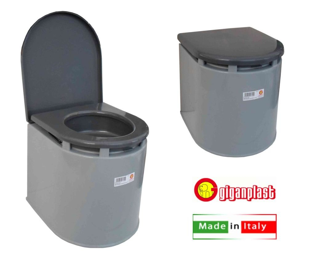 giganplast 3573900 wc chimique pour camping gris ebay. Black Bedroom Furniture Sets. Home Design Ideas