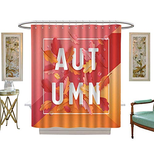 Shower Curtain CollectionAutumn Background Template with Bea