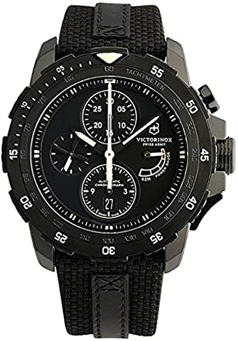 Swiss Army Alpnach Men's Black PVD Automatic Chronograph Limited Edition Watch 241574 (Swiss Mechanical Automatic)