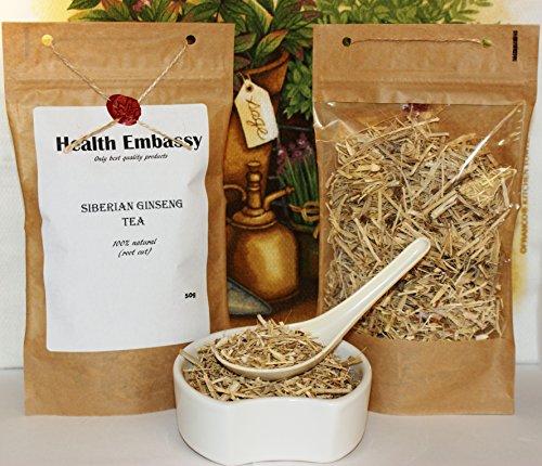 Kosher Ginseng - Siberian Ginseng Root Cut Tea (Eleutherococcus senticosus) - Health Embassy -100% Natural (50g)