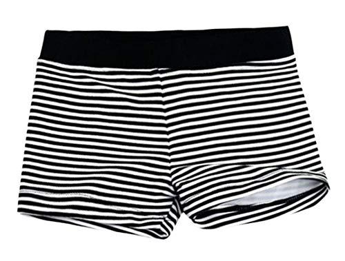 Aivtalk Kids Boys Swimming Trunks Swim Boxer Shorts Underpants, Stripe Black, Medium 2-3years ()