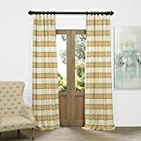 JQCH-AS214298-96 Horizontal Stripe Jacquard Curtain, Tyler Pastel Yellow/Cream, 50″ x 96″