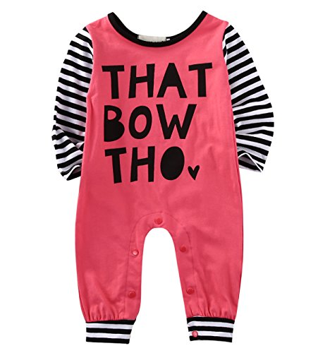ing Rompers Toddler Footless Coveralls Jumpsuit Clothes (6-9M, red) ()