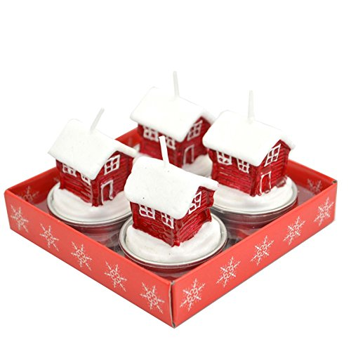 Gifts 4 All Occasions Limited SHATCHI-1289 Shatchi Decorative Christmas Santa Home Novelry-4 Candle Set, Multi