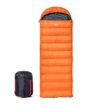 HM&DX Invierno Down Saco de Dormir Rectangular Adulto Tiempo Frío Ultraligero Impermeable Saco de Compresión Camping