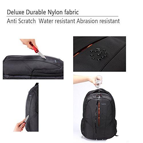 kopack Laptop Backpack Slim Computer Travel Bag Anti Theft Water Resistant 15.6 Inch Black KP492 by kopack (Image #5)
