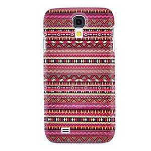 Red National Style Pattern Hard Case for Samsung Galaxy S4 I9500