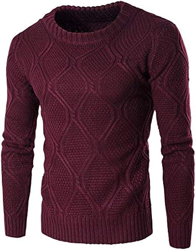 Jesień i zima męski ciepły sweter dziergany modny wygodny rozmiar luźny standardowy lakier długi rękaw okrągły dekolt sweter dziergany ubranie: Odzież