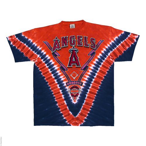 Los Angeles Angels V Tie Dye T-shirt (X-Large)