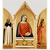 'Madonna, Saint Thomas Aquinas, and Saint Paul,1330 By Bernardo Daddi' oil painting, 12x13 inch / 30x33 cm ,printed on high quality polyster Canvas ,this Vivid Art Decorative Prints on Canvas is perfectly suitalbe for Garage artwork and Home decor and Gifts