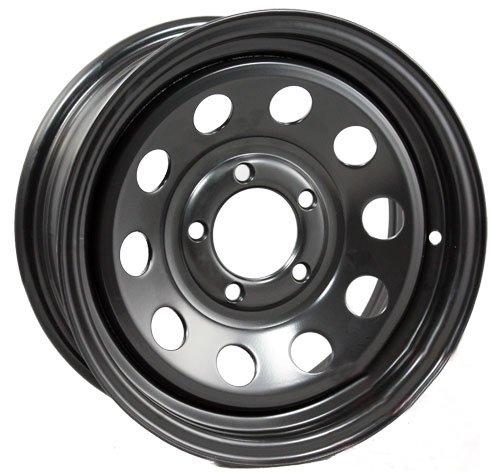 eCustomRim Trailer Wheel Black Rim 15 x 5 Modular Style (5 Lug On 4.5')