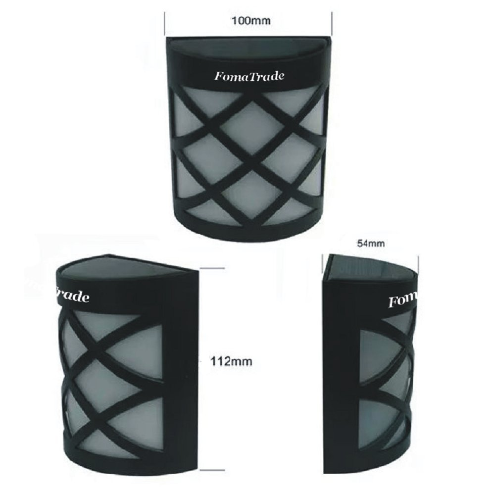 Solar Fence Post Lights By Fomatrade 6 Pack Of Solar Powered Outdoor Path Light Yard Fence Gutter Garden Wall Lamp warm light