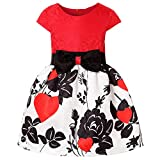ZaH Fancy Butterfly Boho Rustic Flower Girl Dress 3-4 Year Old Girls Pageant Ball Gowns Kids Embroidered Wedding Party Dress Size 4 (1802 Red, 4)