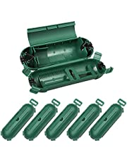 DEWENWILS 6 Pack Outdoor Extension Cord Safety Cover, Water-Resistant Seal Housing with 4 Latches, Adjustable Compartment for AWG 12/14/16 Cords, Protect Holiday Decoration Lights and Plugs, Green