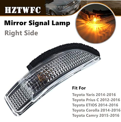 (HZTWFC Mirror Signal Lamp Indicator 81730-52100 Compatible for Toyota Corolla Camry Yaris Prius C Avalon Scion IM Venza (Right Side))