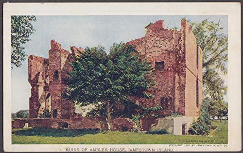 Ambler House Ruins Jamestown Island Jamestown Exposition postcard 1907