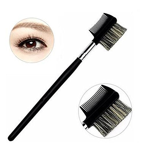 Pro Eyebrow Eyelash Dual-Comb Extension Brush/Cosmetic Makeup Beauty Tool(5 pcs) ()