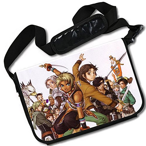 MovieWallscrolls Suikoden Video Game Stylish Laptop Messenger Bag (15 x 11) Inches [MB] Suikoden- 7 by MovieWallscrolls