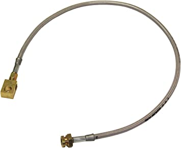 Pro Braking PBR4514-RED-GOL Rear Braided Brake Line Red Hose /& Stainless Gold Banjos