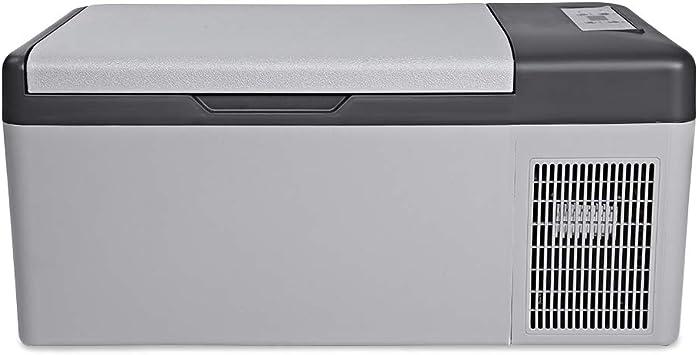 SMEARTHYB Refrigerador Port/átil del Coche De M/últiples Funciones Home Travel Vehicle Refrigerator Temperature Control con El Led Digital 15L AC DC