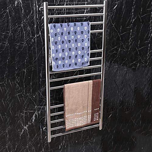 ZJINHUI 304 Stainless Steel Electric Towel Rack,Wall-Mounted Radiator Hot Towel Rack with 14 Heated Bars,162 Watts,Bathrooms Polished,1100520120mm,hardwiring ()
