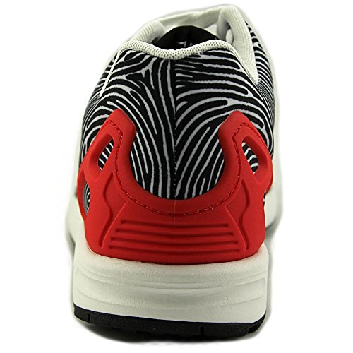 Zapatos para correr sintético Adidas Zx Flux Ftwht-Cblack-Tomato