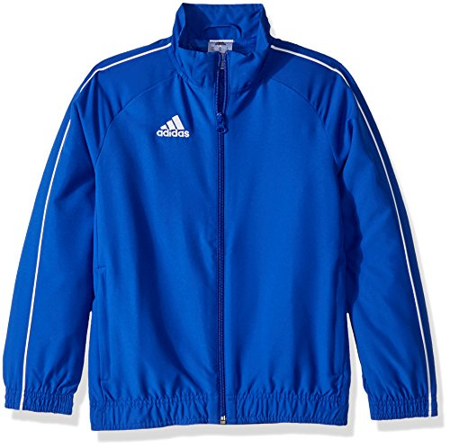 adidas Youth Soccer Core18 Presentation Jacket, Bold Blue/White, Medium