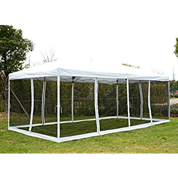 Outsunny 10u0027 x 20u0027 Pop-Up Canopy Shelter Party Tent with Mesh Walls - Cream White  sc 1 st  Amazon.com & Amazon.com : Outsunny Easy Pop Up Canopy Tent with Mesh Side Walls ...