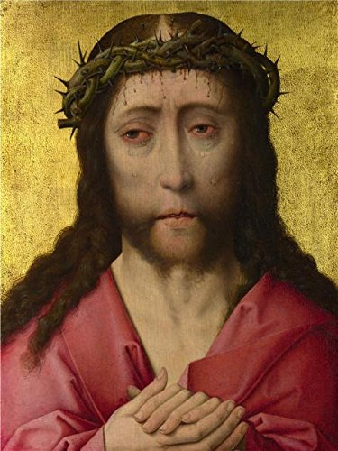 Oil Painting 'Workshop Of Dirk Bouts-Christ Crowned With Tho
