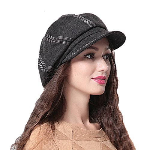 Samtree newsboy hats for men women pu leather gatsby ivy for Home prefer hats