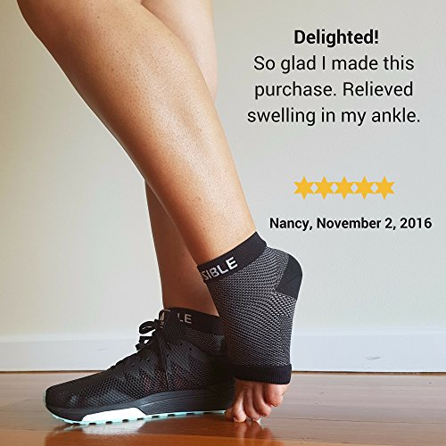 BeVisible Sports Plantar Fasciitis Socks - High Performance Compression Foot Sleeves With Arch Support For Men and Women - Helps Boost Circulation, Reduces Swellings For Foot and Heel Pain Relief by BeVisible Sports (Image #4)