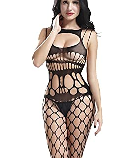 1b041caffb442 Sexy Crochet Fish Net Bodystockings Lingerie Babydoll Dress Underwear  Sleepwear Chemises Teddies Bodysuits