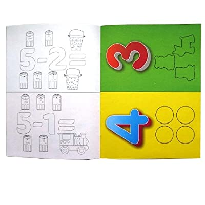 Grafix Count & Color - Educational Activity Game Book - Includes Sticker Sheets - Size 279mm X 208mm: Toys & Games