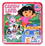 Candy Land Nick Jr. Dora the Explorer Collectors Tin Edition Plus Go Diego Go! Edition Memory Game