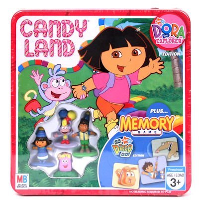 Collectors Twist Edition (Candy Land Nick Jr. Dora the Explorer Collectors Tin Edition Plus Go Diego Go! Edition Memory Game)