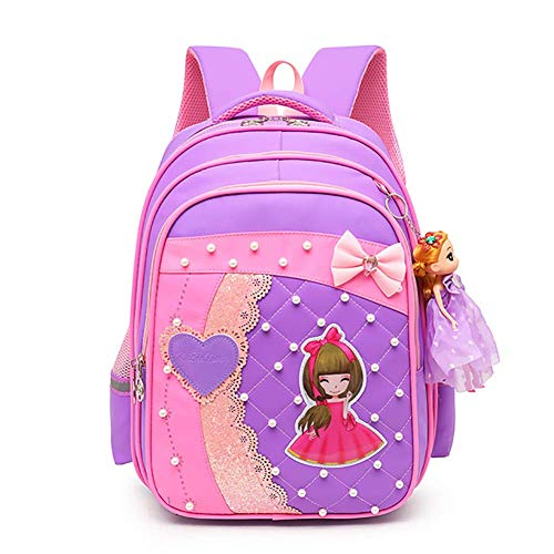 Lightweight School Backpacks, Fashion Student Bags for Girls, 17'' Casual Rucksacks for Student,2