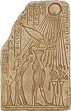 King Akhenaton Offering to Aten Sun God Relief