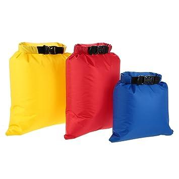 Docooler – 3 Bolsas impermeables (3 L + 5 L + 8 L) y ultraligeras, ideales para acampar