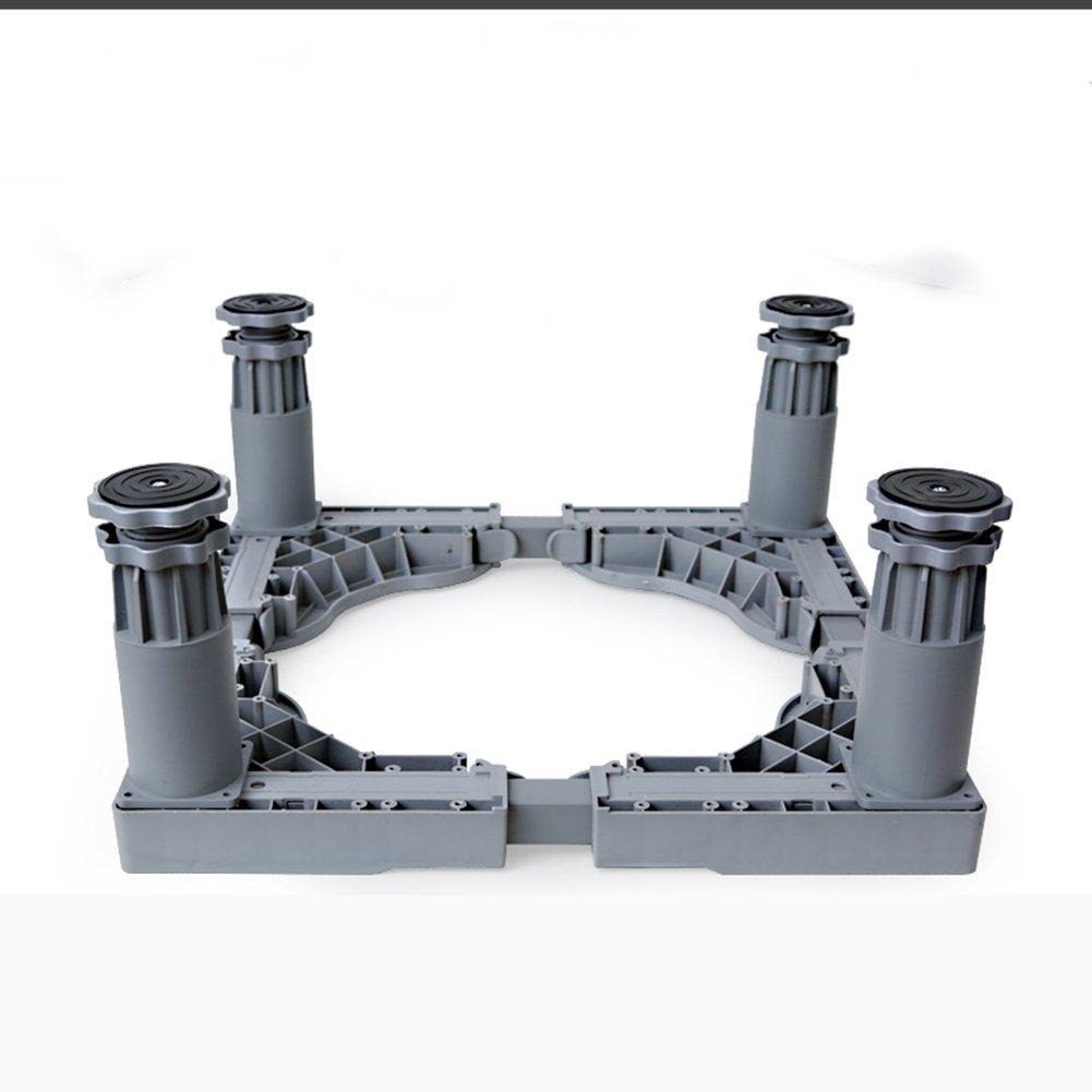 洗濯機ベース移動ホイールブラケット洗濯機棚ブラケットローラー高められたステンレス鋼4脚 (色 : グレー, サイズ さいず : H:18.5~21.5CM) H:18.5~21.5CM グレー B07DLZWFVZ