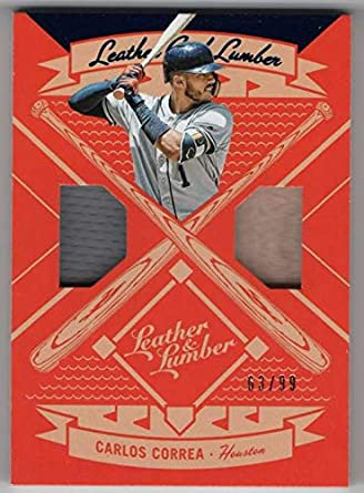 online store fdcae bfcd6 Amazon.com: 2019 Panini Leather & Lumber Dual Jersey-Bat #4 ...