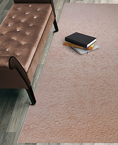 Custom Size Hallway Runner Rug Non-Slip (Slip Resistant) Rubber Back, Anti-Bacterial, 31 Inch Wide x Your Choice of Length Size 11 Color Options, Diamond Collection, Light Salmon, 31 inch X (8' Runner Salmon)